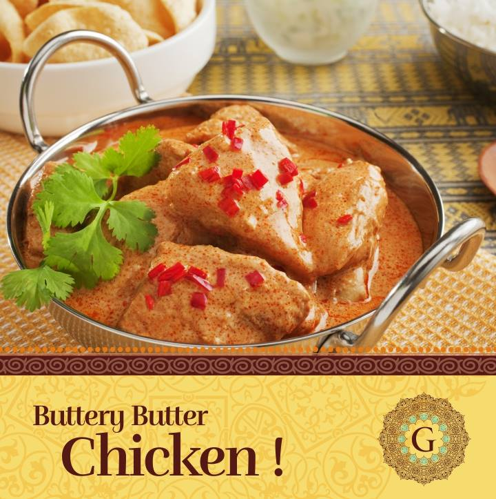Guru s authentic indian dishes - Herve cuisine butter chicken ...